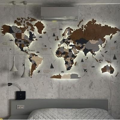 Мапи світу з LED підсвічуванням