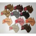 Дерев'яна карта світу на стіну, тонована різними кольорами (від 150х95 см)