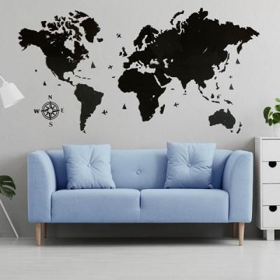 Одношарові мапи світу з дерева