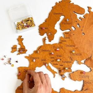 Пены (отметки) или флажки стран для карты мира