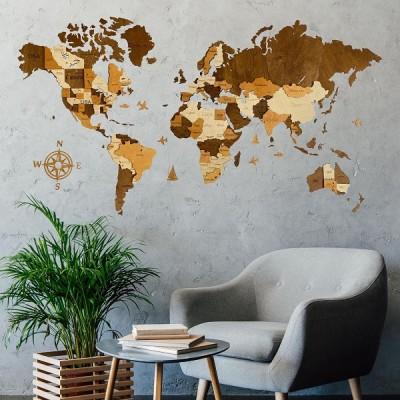Настінний декор (карти світу)