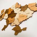 Багатошарова мапа України з натурального дерева