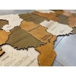 Багатошарова дерев'яна мапа України