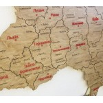 Політична мапа України з дерева та акрилу