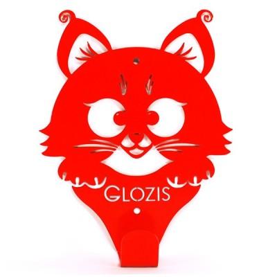 Вішак настінний Glozis Kitty Red