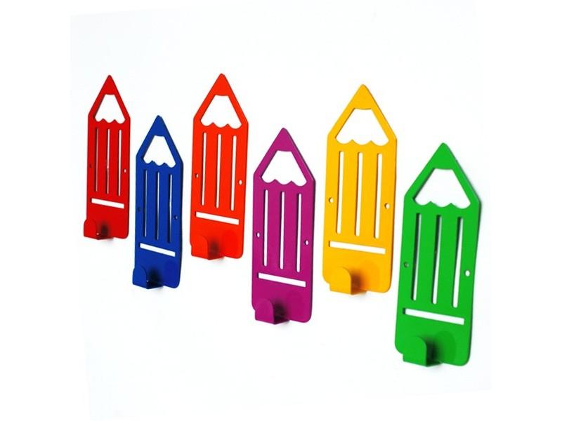 Вішак настінний Glozis Pencil (Orange, Blue, Yellow, Red, Green, Purple)