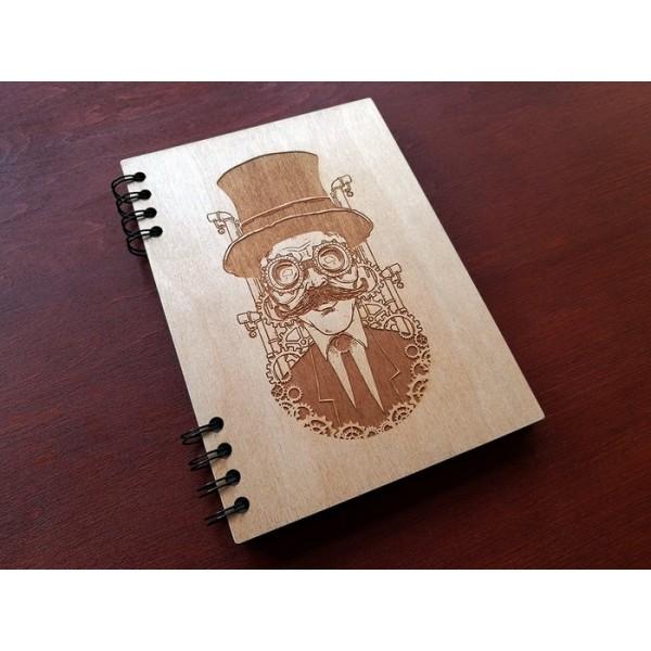 """Блокнот """"Steampunk"""" в дерев'яній обкладинці"""