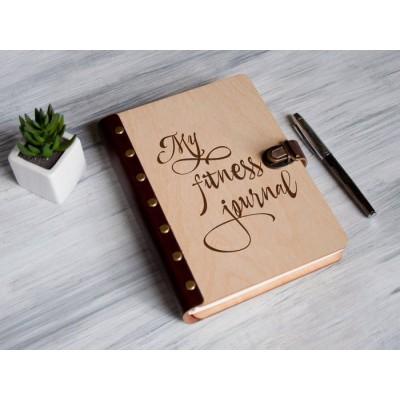 Планер в дерев'яній обкладинці My fitness journal